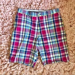 Polo Ralph Lauren Plaid Pink & Blue Golf Short. 30
